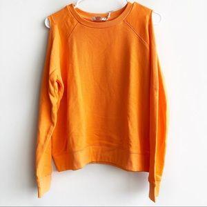 (NWT) Forever 21 Orange Cold Shoulder Sweatshirt